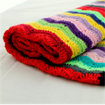 Multi colour wave, chevron crochet blanket. Rainbow plus more