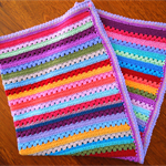 Crochet Rainbow Blanket, 
