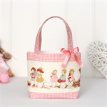 Mini Tote Bag for Little Girls - Vintage Children Print