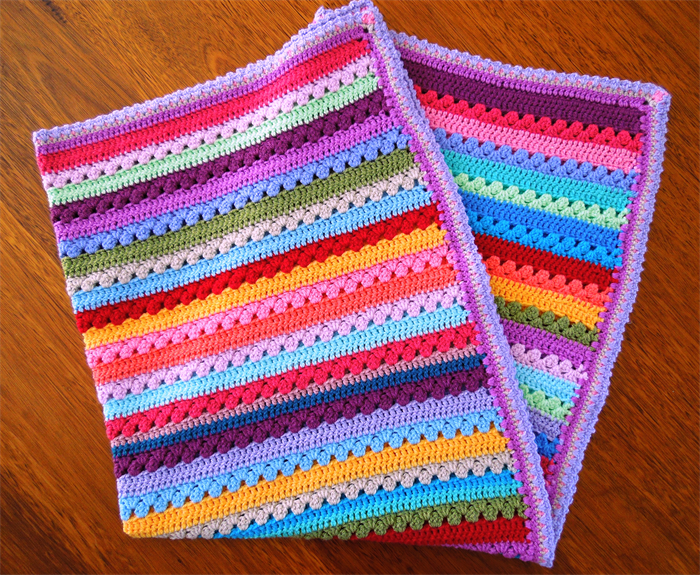 Crochet Rainbow Blanket Cot Pram Or Lap Blanket Sweet Poppy