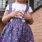 Suspender Skirt 'Teeny Tiny Flowers' - Size 2