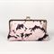 Lotus in black large clutch purse