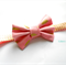 Pink and gold fabric classic bow stretch headband