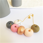 Blush Me - Clay Pod Gold Necklace