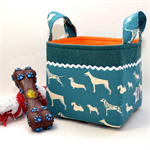 FABRIC STORAGE BASKET - 15cm