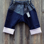 Size 000 Chevron Pants - Butterfly / Navy
