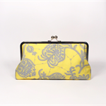 Flora in lemon large clutch purse