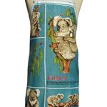 Metro Retro Australian Koalas Vintage Apron.  Birthday Christmas Gift Idea