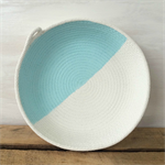 Rope Dish / Mint Half / Handmade, Homewares, Storage, Bowl, Vessel