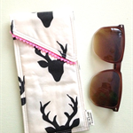Glasses Case - (Black/White Deer)