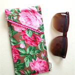 Glasses Case - (Brown Floral)
