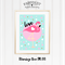 Flamingo Love A4 Print