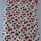 Large cotton / minky baby blanket for baby girl - Strawberries!