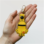 Kiss My Minion Snap Tab Keyring