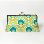 Green primrose large clutch purse