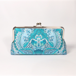 Alchemy in blue large clutch purse