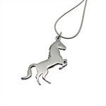 Horse Sterling Silver Necklace - Free Shipping