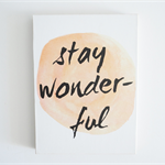 Stay Wonderful Watercolour Wall Art Shelfie