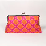 City gate in tangerine large clutch purse