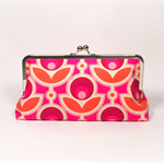 Magenta primrose large clutch purse
