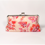 Wild garden in sorbet large clutch purse