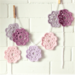 valerie | flower garland | crochet bunting | nursery decoration