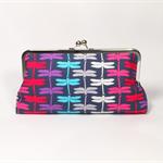 Summer dragonflies large clutch purse