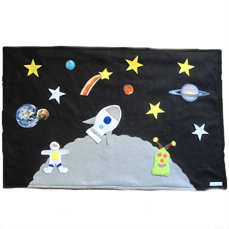 Space Playmat, Stars, Planets, Felt Play mat Game