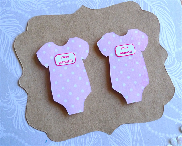onesie. twin onesies. twins. twins gift card. baby shower card, Baby shower invitation