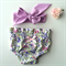 Spring Fling Baby Bloomers and Lilac Headwrap - high waist, girl, baby, floral