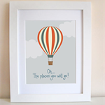 Oh...The Places You Will Go (Hot Air Balloon)  Art Print