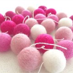 Pretty in Pink 2m Felt Ball Garland