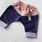 Twig Chevron Pants - Floral / Purple, size 000