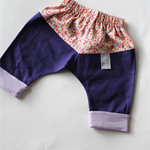 Size 000 Chevron Pants - Floral / Purple