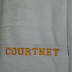 White Personalised Bath Towel