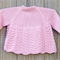 Weekend special: Pretty pink bamboo/wool cardigan size 1