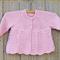 Free post. Pretty pink bamboo/wool cardigan size 1