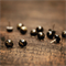 Black and gold flake mini Eco resin stud earrings