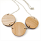Timber and Kimono Three Disc Necklace - Mustard and Rust Floral