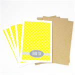Thank You Card Pack - Yellow Fish Scale - Set of 5 Cards - 5PACK_NOT504