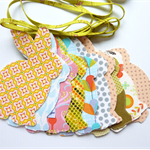 Bunny Garland, Baby Shower Bunting, House  Warming gift, soft colours