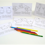 Colouring Me In Cards  Colour In Birthday Cards  Art & Craft 4 Kids  KIDS008