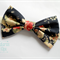 Navy Red Cream floral flowers big bow stretch headband