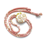 Kimono Strand Necklace - Soft Pink Florals