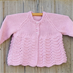 Autumn sale: Pretty pink bamboo/wool cardigan size 1