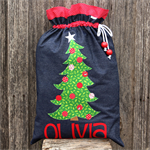Denim Santa Sack (4 letters)