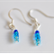 Earrings in blue