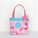 Mini Tote Bag for Little Girls - Musk / Teal / Fox / Woodland