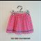 Size 2, pink chevron, 'The Zarli Everyday Skirt'