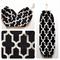 Plastic Bag Holder/ Grocery Bag Holder/ Bag Dispenser - Moroccan Black & White